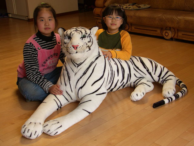 big lovely simulaiton tiger toy huge white tiger doll plush lying white tiger doll gift about 150cm 0845 huge lovely panda toy big plush panda with stripe clothes birthday gift about 90cm