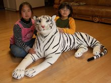 big lovely simulaiton tiger toy huge white tiger doll plush lying white tiger doll gift about 130cm