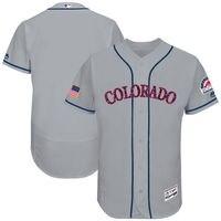 MLB Men S Colorado Rockies Baseball Gray 2017 Stars Stripes Authentic Collection Flex Base Team Jersey