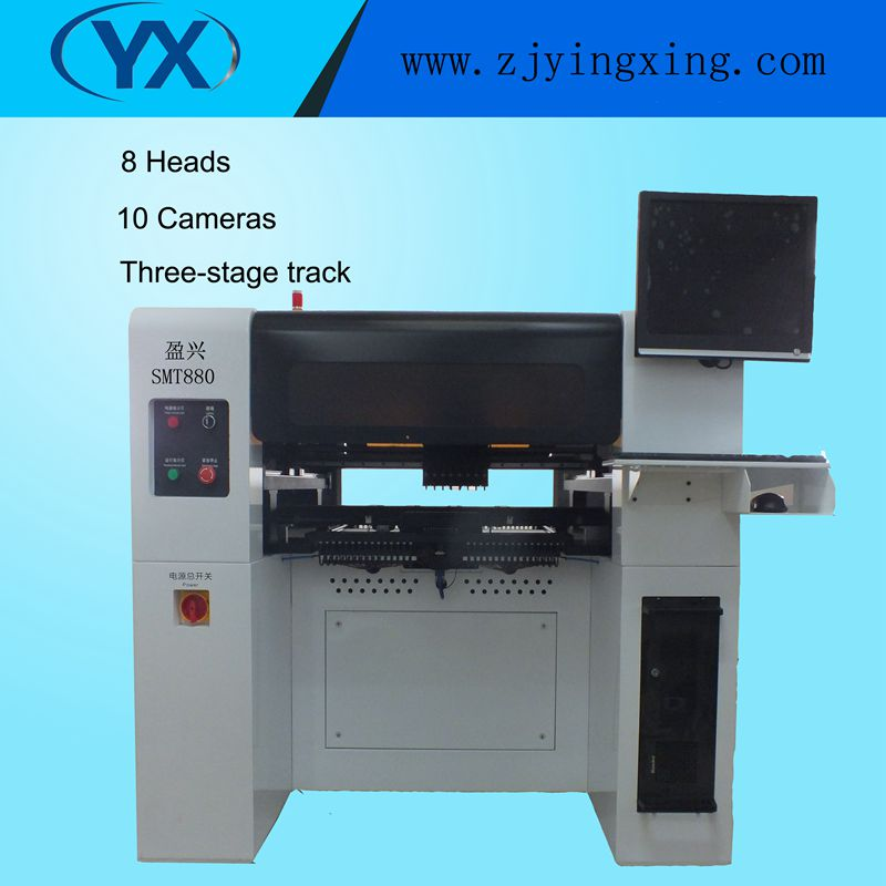 Good Price Electronic Components Making Machine,LED SMT Assembly Machine with 8 Mounting Heads 80 Feeders Servo Motor