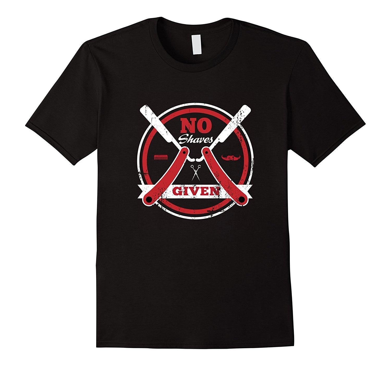 2018 New Summer Fashion Men Tee Shirt Barber Shop No Shaves Given Grow that Beard T-Shirt Casual T-shirt