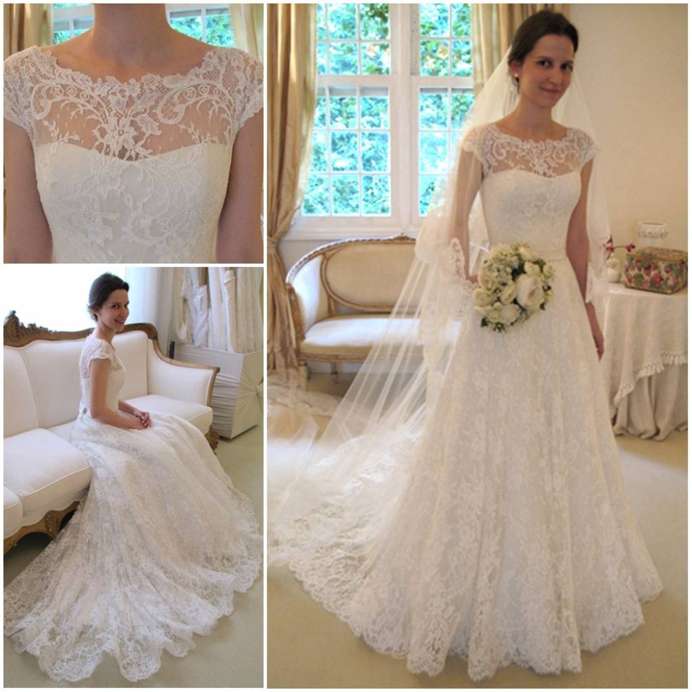 excellent was married wedding dress lace cape sleeve short sleeve