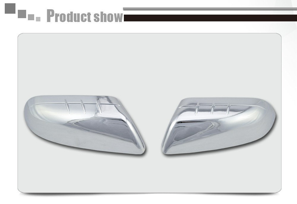 Chrome Top Mirror Cover Set for 2012-2014 Ford Edge