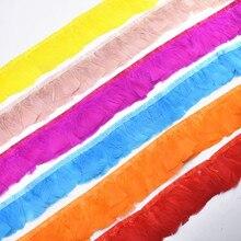 10Meter Turkey Feather Fringe Trim Ribbon Fringe Skirt Boa Width 3  Pheasant Feathers for Crafts Trimming Carnival Plumas Plume цена