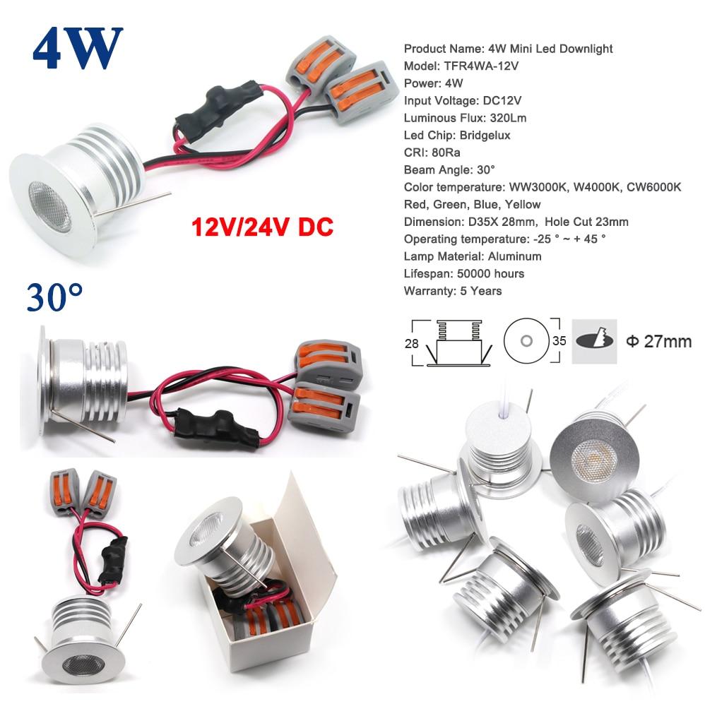 1W 2W 3W 4W DC 12V Mini LED Bulb Spotlight For Home Bed Room Spot Light Mirror Lighting Lamp CE RoHS Ceiling Lighting