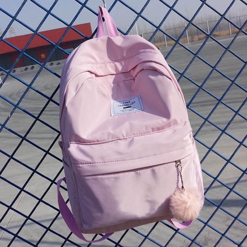 Pretty Style Lovely Girl's School Backpacks High Quality Waterproof Nylon School Bag Fashion Simple Design School Backpck Sac