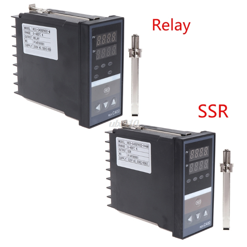 PID Digital Temperature Controller REX-C400 Universal Input Relay SSR Output S03 Drop ship