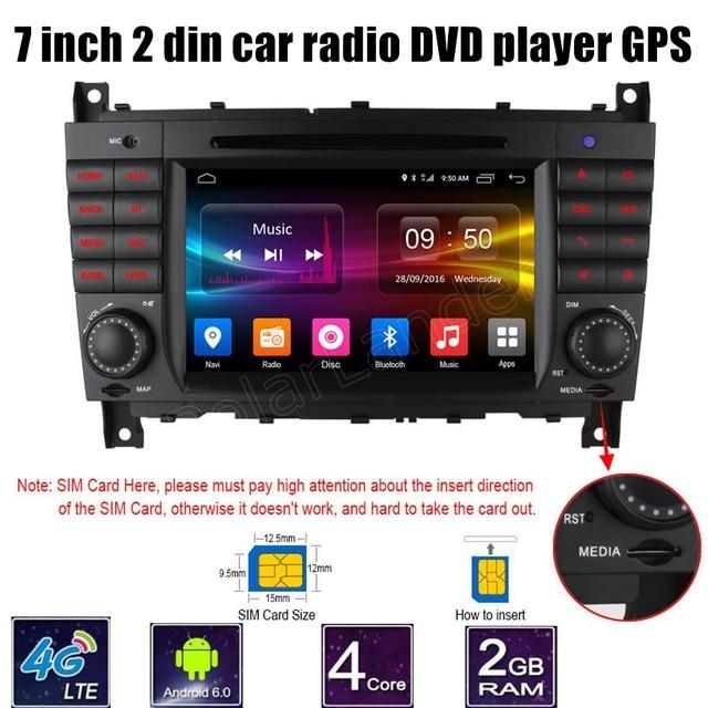 Para M/ercedes B-ENZ W203 W209 W219-Classe A W169 A160 C-Classe C180 C200 CLK200 CLK350 carro DVD GPS do Bluetooth Rádio