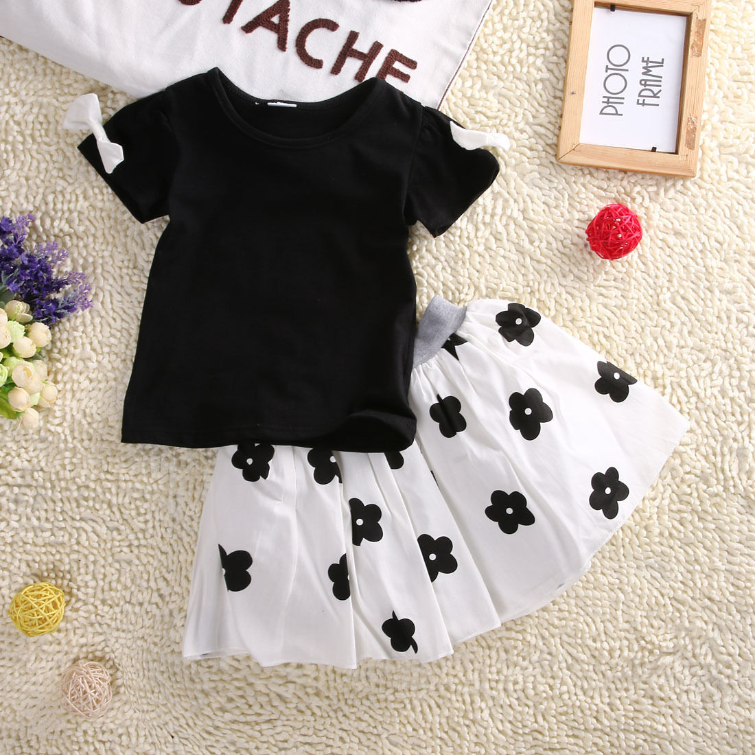 Summer Style Girls Clothing Set Baby Girl S Clothes Sets Cartoon Flower Children Kids T Shirt Skirt The Casual Cute Suit Baby Girl Clothes Girls Clothessummer Girls Clothing Sets Aliexpress