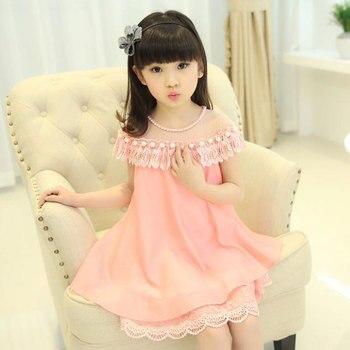 faeb61be9817516 2019 г. платье для девочек 8 летнее платье 3 новых 6 платьев 4 Детские  платья принцессы 5 в Корейском стиле 9 шифоновое вечернее платье для девоче.