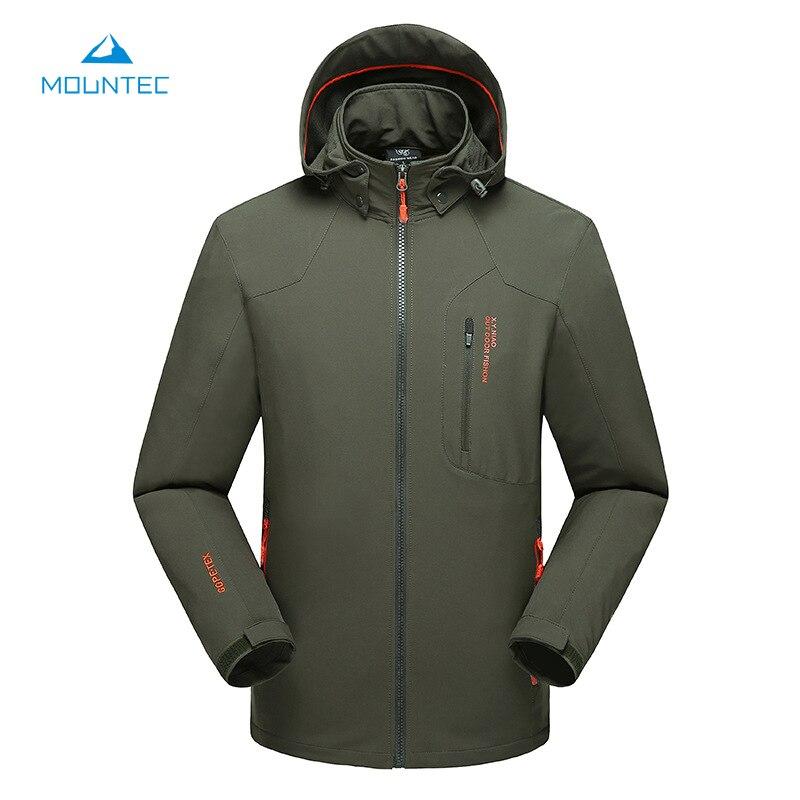 MOUNTEC Softshell Jacket Windproof Waterproof Outdoor Jacket Camping Hiking Jackets Rain Jacket Windstopper With Detachable Hat  cube softshell jacket blackline
