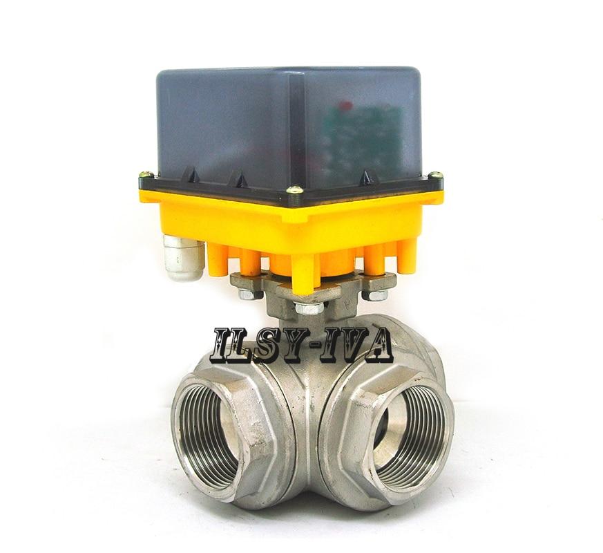 G1 1/4 DC12V/24V Stainless steel electric valve,DN32 three-way fixed-type motorized ball valve razgrom ukrainskij vojsk v stepanovke chast 1