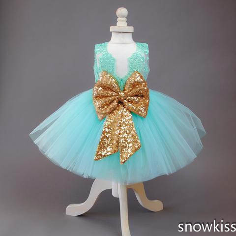 378ee2c68f US $84.0 |Cute blue cute short baby girl summer dresses tulle ball gown  lace appliques sparkly sequin sash open back kids dresses with bow-in  Dresses ...
