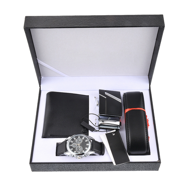 LASPERAL 2018 Black Men Watch Gift Set Valentineu0027s Day Multiple Time Zone Watch Leather Wallet Belt Gift Quartz Wrist Watch  sc 1 st  AliExpress.com : men gift sets - princetonregatta.org