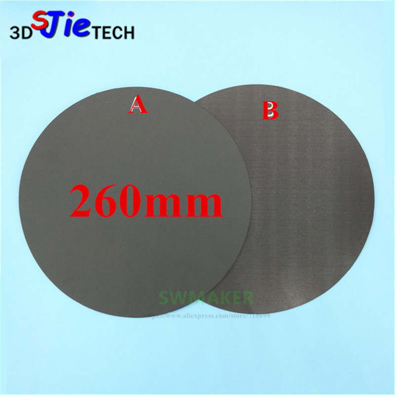 Cheap Sale Round 260mm Magnetic Adhesive Print Bed Tape Print Sticker Build Plate Tape Flexplate For Diy Kossel/delta 3d Printer Parts Beautiful And Charming Computer & Office