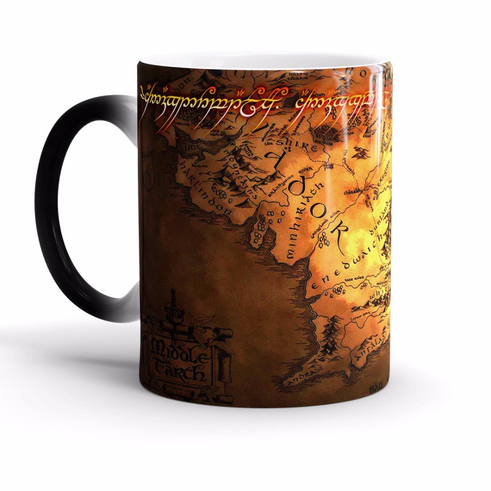 The Lord of The Rings Coffee Mug Color Change Cup Ceramic Funny ...