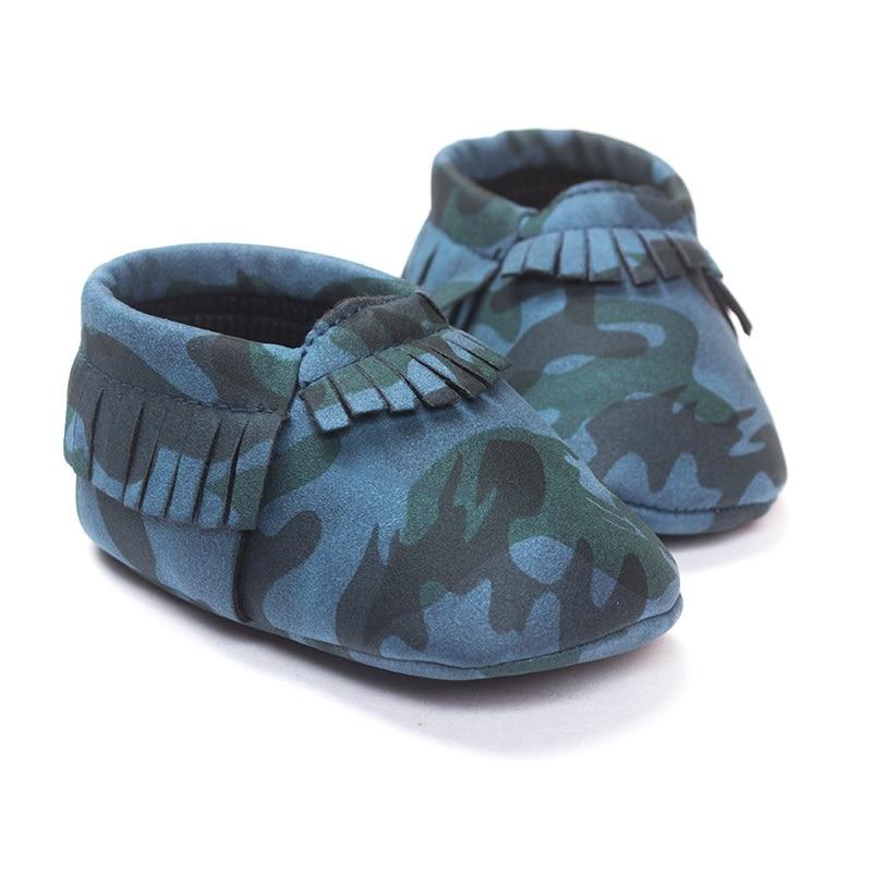 Camuflaje Niños Zapatos Hechos A Mano de Niño Primero Caminantes 0-2years Del Be