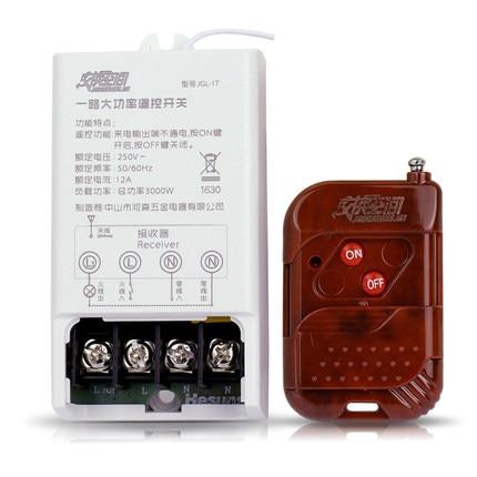 JGL-1TS  > 200M 220V 30A Long Distance One Way Remote Control Power Switch 3000W High Power Wireless Switch With remote control