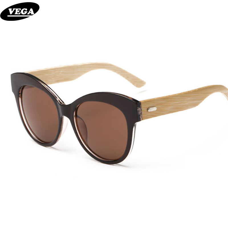 4cd1a94e61 VEGA Polarized Wood Sunglasses for Ladies Best Polarized Cateye Sunglasses  with Case High Quality Nice Wooden Eyeglasses 8061-in Sunglasses from  Women s ...