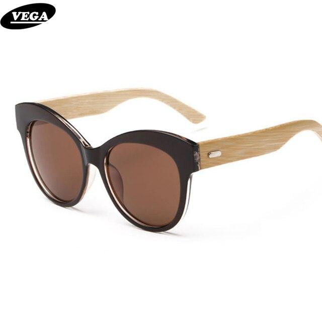 VEGA Polarized Wood Sunglasses for Ladies Best Polarized Cateye Sunglasses with Case High Quality Nice Wooden Eyeglasses 8061