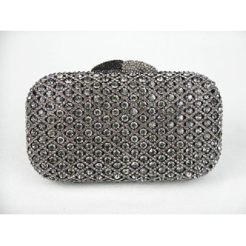 ФОТО A6607 GREY Crystal Lady Fashion Wedding Bridal Party Night hollow Metal Evening purse clutch bag handbag case box