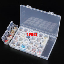 28/ 8 Slots Diamond Embroidery Painting accessories boxes Case Cross Stitch Tool Plastic Storage Box Nail Rhinestone Hold YI GT(China)