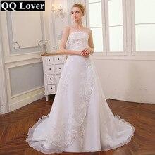 QQ amante 2020 barato Vintage largo tren Vestido de boda Vestido De Mariee Sirene Plus tamaño Vestido de novia Vestido envío gratuito Vestido De novia