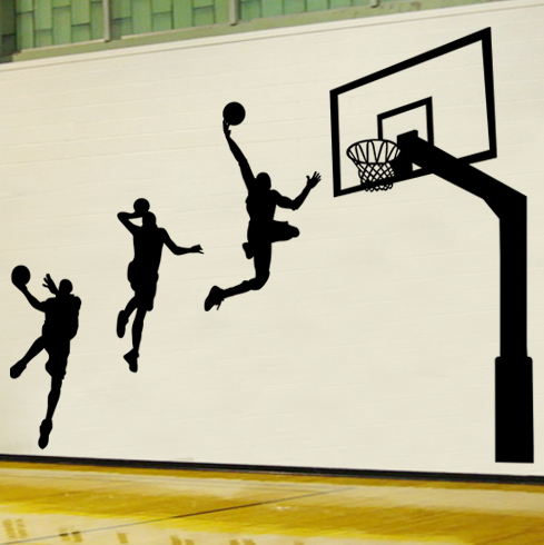 Wall Stickers Boys Bedroom Dorm School Gymnasium Sports Culture Decorative Wall  Stickers 90806 Basketball ... Part 39