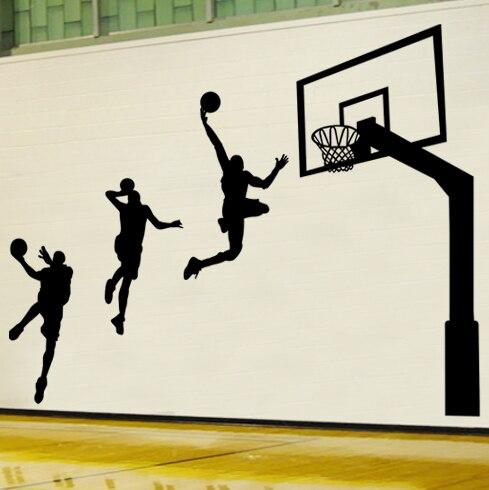 Wall Stickers Boys Bedroom Dorm School Gymnasium Sports Culture Decorative Wall  Stickers 90806 Basketball