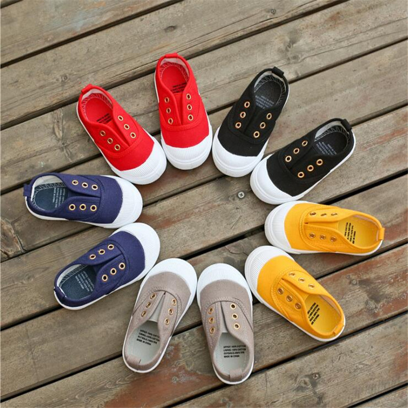 MHYONS Kids Shoes For Girl Children Canvas Shoes Boys Candy Color 2018 Spring Autumn White Sneakers Children Single Shoes Girls