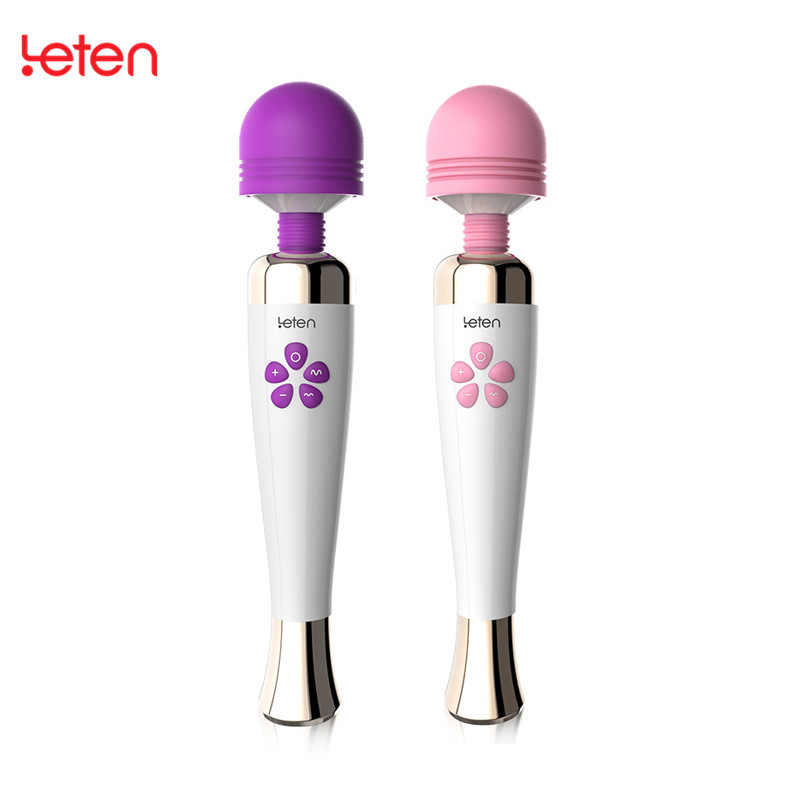 10 Mode 7 Speed Powerful G-spot Vibrators AV Magic Wand Massager For Women USB Magnetic Charging Clitoral Vibrator Sex Toys