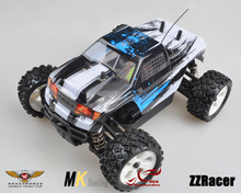 MK 1/16 Baja Monster Truck Brush Motor Electric Remote Control Car 25A Waterproof ESC Free Shipping