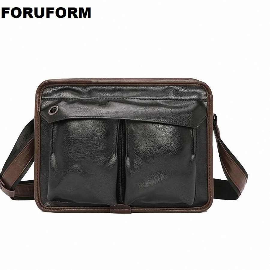 Модные Мужской из искусственной кожи Курьерские сумки для мужчин Повседневное Бизнес Винтаж сумка IPAD Малый Для мужчин мешок LI-2482