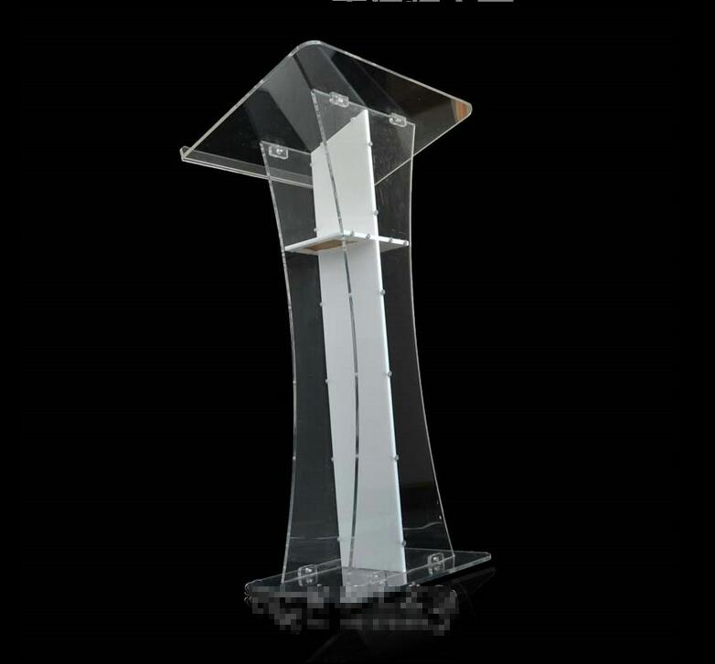 все цены на Free Shipping fashionable custom acrylic podium / acrylic lectern / pulpit of colorless transparent Church в интернете