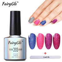 FairyGlo Bling Gel Nail Polish 12pcs Lot Neon Gel 10ml UV LED Lamp Soak Off Vernis