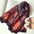 Новый Женский Шелковый Шарф Красочные Декорации Femme Платки Платок Wrap Большой Размер [1947]