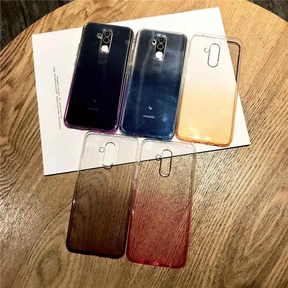 Crepúsculo de Color de arco iris TPU funda de silicona para Huawei Mate 20 10 9 8 P20 Pro P10 Lite P9 P8 Lite 2017 Honor 7X 6X 6A Y5 Y7 cubierta