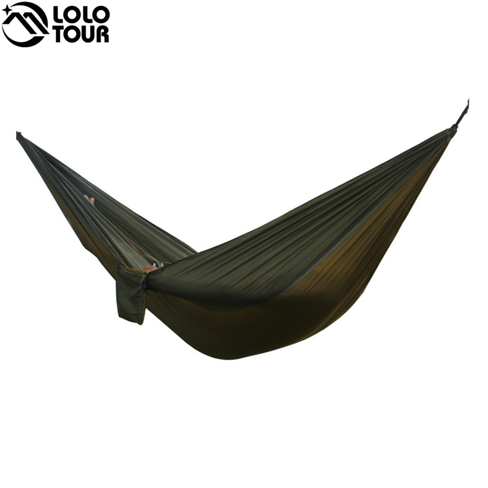 24 Color 2 People Portable Parachute Hammock Camping Survival Garden Flyknit Hunting Leisure Hamac Travel Double Person Hamak double people hammock camping survival garden hunting swing leisure travel double person portable parachute outdoor furniture