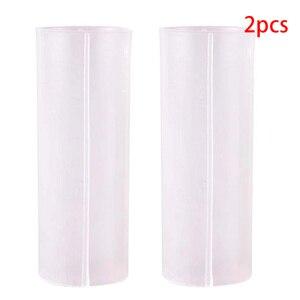 2pcs/lot 18650 Battery Fixed Tube Holder Battery Sheath Tube Plastic High Quality Case Adaptor For Flashlight(China)