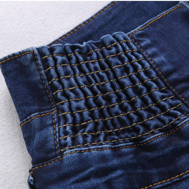 22aa0da31c65e8 Primavera cintura elástica alta cintura jeans Mujer explosión pantalones  vaqueros delgados talla plue mujer jeans 6xl en Pantalones vaqueros de Ropa  de ...