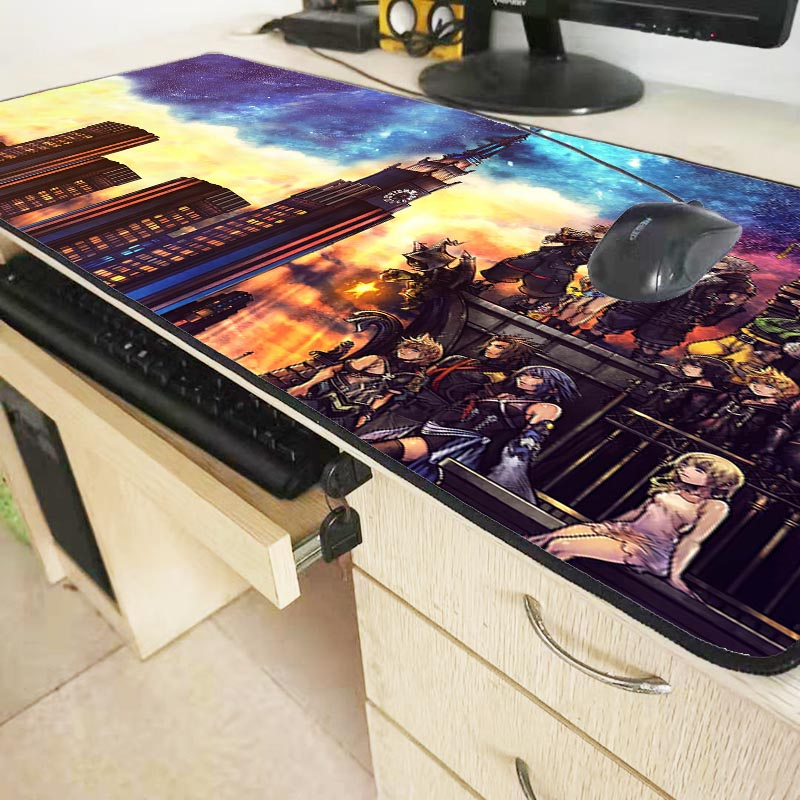 Mairuige Kingdom Heart Pattern Speed Edition Large Gaming Mouse Pad Black Lock Edge MousePad Computer Table Mat Keyboard Pad 6