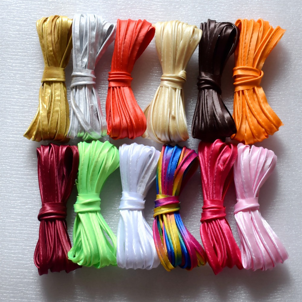 10mm Polyester Satin Bias Piping With Cord Bias Binding