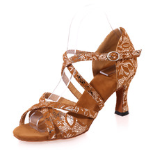 Sexy narrow bands girl sandals woman practice dancing latin jazz belly dance shoes flock embossed flowers gold black brown
