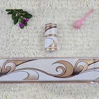 1 Roll 0.1x10m Retro Flower Stickers Waist Line Wall Sticker Wallpaper Kitchen Bathroom Toilet Border Waterproof Baseboard Decor