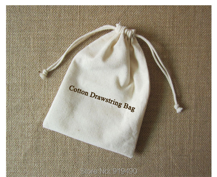Aliexpress.com : Buy (100 pcs/lot)Cotton Canvas Drawstring Bag ...