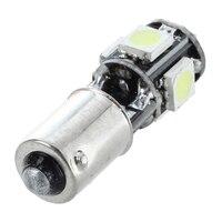 smd 5050 2x Bulb 5 LED 5050 SMD BA9S H6W T4W White Anti ODB Error code lamp (5)
