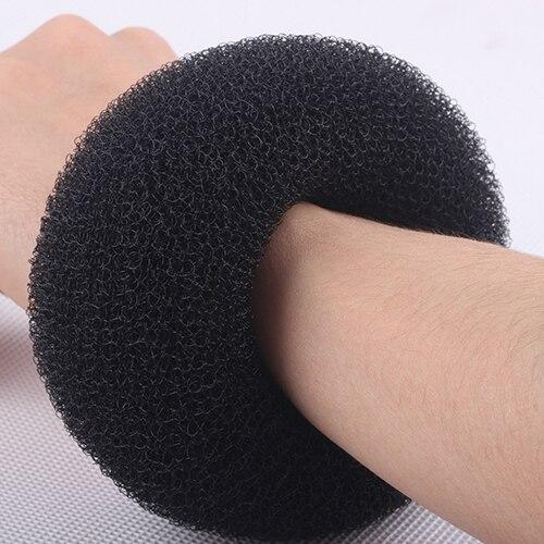 3Pcs Black Womens Magic Blonde Donut Hair Ring Bun Former Shaper Hair Styler Maker Tool