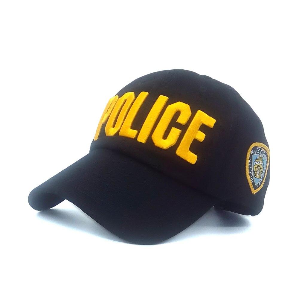 21d456426 US $4.99 |High quality Police Baseball Hats Black Caps for Women Men sun  Hat Snapback Hats female summer dad Cap male casquette gorras-in Men's ...