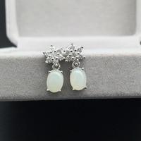 925 Tremella nail fashion earring natural flower earrings