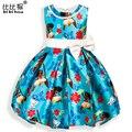 Моана платье принцессы девочка Маленьких Девочек colouful мягкий PartyDresses День Рождения Платье Производительность Рождество детская Одежда